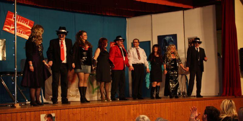 Die Grenzbachchaoten nach ihrem Auftritt am 28.01.2012